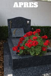 tombe propre cimetière d'Armentières